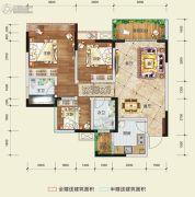 希望・玫瑰园3室2厅2卫94平方米户型图