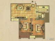海天紫郡2室2厅1卫89平方米户型图