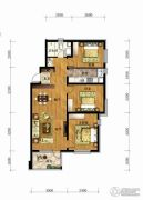 长春净月万科城3室2厅1卫115平方米户型图