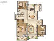 中海九玺3室2厅2卫133平方米户型图