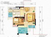 国瑞爱与山2室2厅1卫0平方米户型图