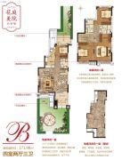 恒大都市果岭4室2厅3卫171平方米户型图