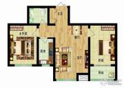 燕西台2室2厅1卫76平方米户型图