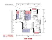 恒晟御水湾4室2厅2卫128平方米户型图