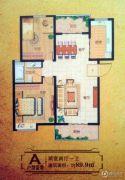大通豪庭2室2厅1卫89--90平方米户型图
