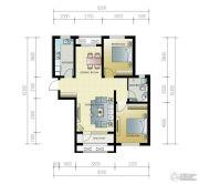 紫林湾2室2厅1卫101平方米户型图