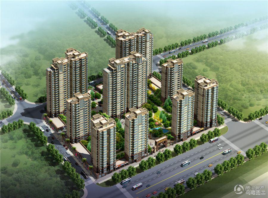 广隆海尚首府 鸟瞰图
