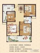 中瓯名城3室2厅1卫95平方米户型图