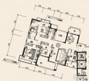 龙光棕榈水岸3室2厅3卫147平方米户型图