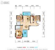 荣泰广场3室2厅2卫111平方米户型图