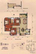 勤诚达22世纪3室2厅2卫132平方米户型图