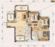 联发君悦壹号3室2厅2卫108平方米户型图