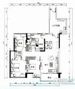 云顶澜山3室2厅2卫124平方米户型图