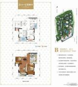 美利山公园城市2室2厅1卫67平方米户型图