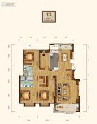 清江山水九程4室2厅2卫164平方米户型图