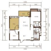 山水一品0室0厅0卫89平方米户型图