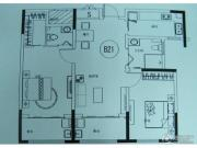 九洲金东方2室1厅2卫122平方米户型图