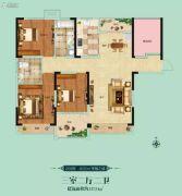 阳光福园3室2厅2卫137平方米户型图