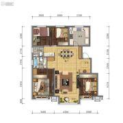 万科・招商 城市之光4室2厅2卫0平方米户型图
