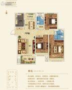 建业壹号城邦3室2厅2卫135平方米户型图