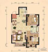 东安瑞凯国际2室2厅1卫86平方米户型图