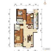 华林国际3室2厅2卫143平方米户型图