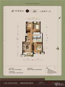 万科锦云坊3室2厅1卫87平方米户型图