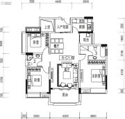宏德・仙域华庭3室2厅2卫122平方米户型图