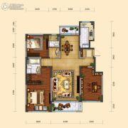 远洋大河宸章3室2厅2卫141平方米户型图
