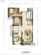 保利・拉菲公馆3室2厅1卫117平方米户型图