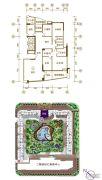 景观一品5室2厅3卫235平方米户型图