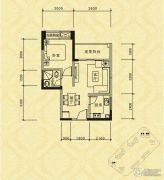 长江国际社区巴塞罗那庄园1室1厅1卫49平方米户型图