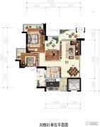 凯茵又一城(商铺)3室2厅1卫103平方米户型图
