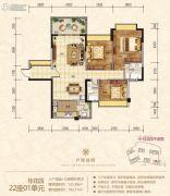 金海湾豪庭3室2厅2卫125平方米户型图