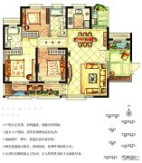 华强城3室2厅2卫119平方米户型图