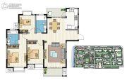 新加坡尚锦城3室2厅2卫134平方米户型图