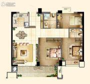 新榕金城华府3室2厅2卫98平方米户型图