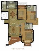 名城国际3室3厅2卫157平方米户型图