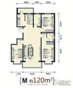 滨洲华府3室2厅2卫120平方米户型图