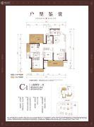 融创・九棠府3室2厅1卫110平方米户型图