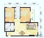 滨海新城2室1厅1卫94平方米户型图