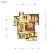 富力十号3室2厅1卫95平方米户型图