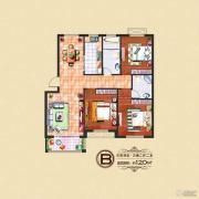 水岸华庭3室2厅1卫120平方米户型图