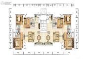 众美青城3室2厅2卫128平方米户型图