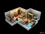 太白山水1室2厅1卫0平方米户型图