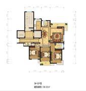 靖宸白鹭湾3室2厅2卫134平方米户型图