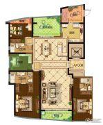 保利达江湾城4室2厅3卫214平方米户型图