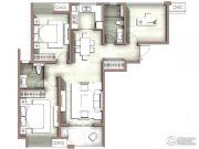 富力尚悦居3室2厅2卫116平方米户型图