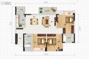 蜀鑫西TOWN3室2厅2卫102平方米户型图
