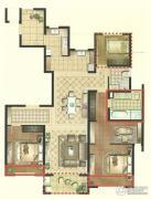景瑞望府3室2厅2卫158平方米户型图